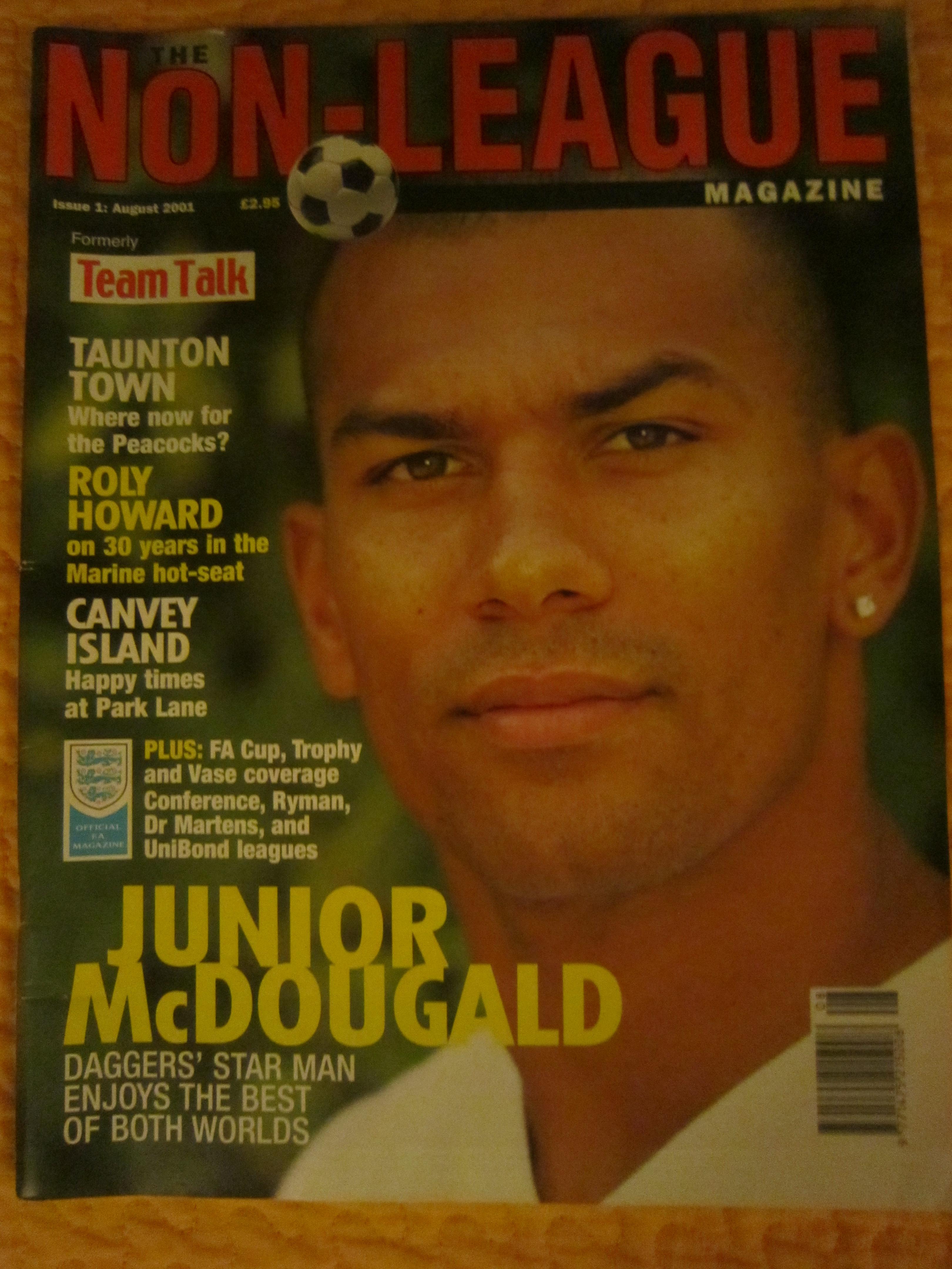 Primo numero di Non League Magazine (Agosto 2001)