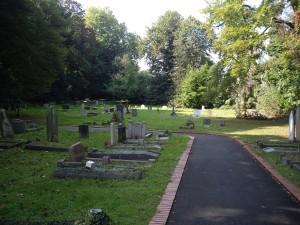 Il luogo dove sorgeva il primo campo a St Mary Cray, adesso e' un cimitero - copyright Richard Bowdery